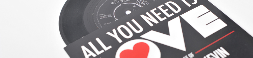 Milkyone creative graphic design liverpool graphic design vinyl 7 inch redord wedding invitations stopboris Gallery