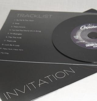 Milkyone creative graphic design liverpool graphic design rat pack wedding invitation stopboris Images