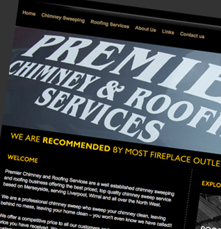 Premier Chimney and Roofing Services Web Design Project