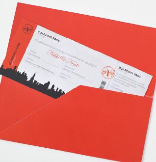 Milkyone creative graphic design liverpool graphic design new york boarding pass wedding invitation stopboris Choice Image